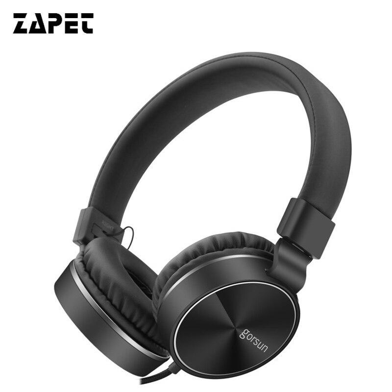 ZAPET Pliable Casques Informatiques Wired Gaming Casque Casques Over-ear Réglable En Métal Avec Micro pour téléphone Intelligent