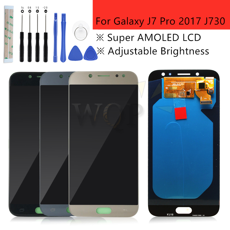 Super AMOLED For samsung galaxy j7 2017 display j7 pro lcd J730 LCD Touch Screen lcd