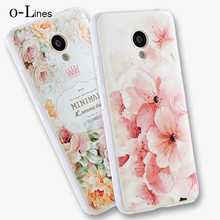 High Quality Soft TPU 3D Relief Painting Stereo Feeling Back Cover Case For Meizu M3 mini m3s 5.0 inch Phone Bag Hot New Style