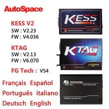 No hay Tokens KTAG KESS V2 V2.13 V2.23 V54 FGTech Galletto 4 Master K TAG ECU Chip Tuning Programador V6.070 V4.036 Conjunto Completo de DHL Nuevo