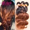 Alionly t1b/33 ombre 7a cabelo peruano onda do corpo do cabelo virgem Ombre Feixes de Cabelo Onda Do Corpo Peruano Feixes de Cabelo Humano Ombre tecer