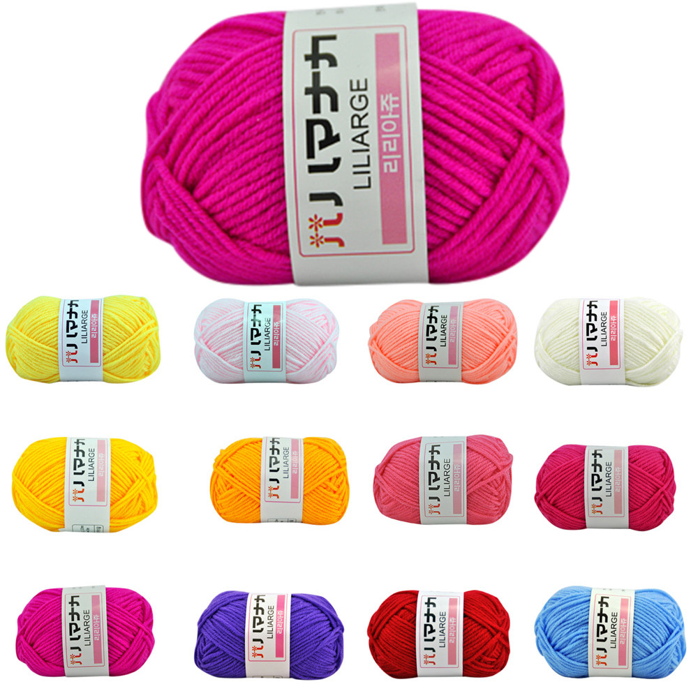 1PC 25g Chunky Colorful Hand Knitting Milk Cotton Knitting Crochet Knitwear Wool 2018 New Arrival Hot Sale