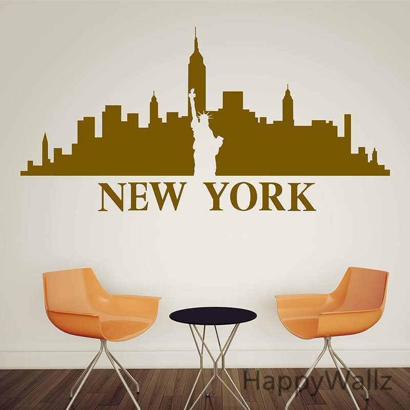 Aliexpress Buy 3d City Landscape Wall Sticker New York Wall