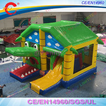 free air ship to door,5x4x3mH crocodile Bouncy jumping castles,commercial bounce house inflatable crocodile bouncer slide combos(China)