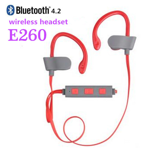 buy e260 4 2 bluetooth headset wireless headphones sport ear. Black Bedroom Furniture Sets. Home Design Ideas