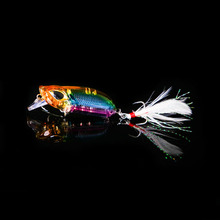 WALK FISH 1PCS 5cm 8 3g Fishing Lure Minnow Wobblers Hard Bait with Feather Hooks Fishing