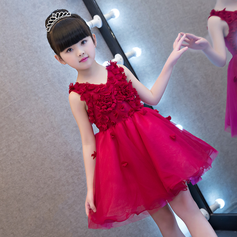 2018 Lace petal Formal Evening Wedding Gown Tutu Princess Dress Flower Girls Children Clothing Kids Party For Girl Clothes велосипед schwinn vantage f1 2016 page 2
