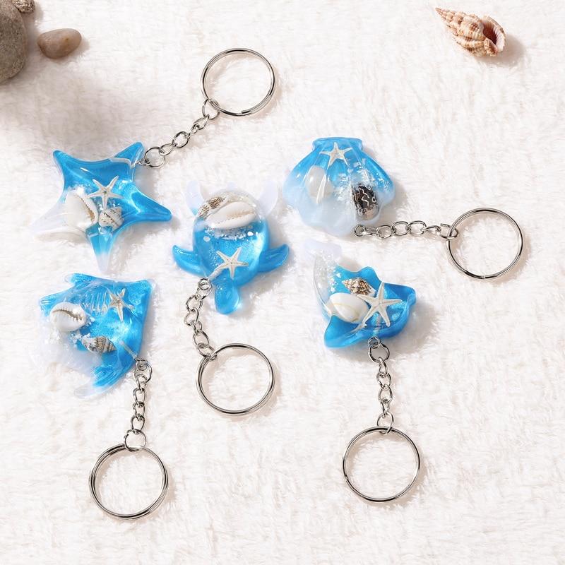 1 шт. летний брелок для ключей в морском стиле с животными