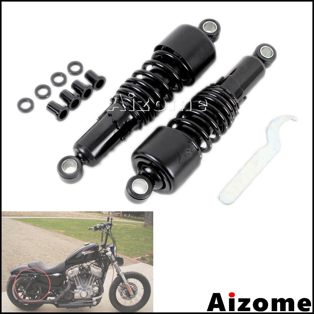 Black 267mm 10 5 Rear Slammer Rear Shocks Lowering Kit For Harley Dyna Sportster Touring FXD