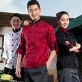 Capa Larga de la Manga del cocinero Restaurante Hotel Uniformes de Chef Cocinero Uniforme de Espesor