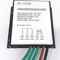 Upgraded Battery Charge Controller For 100 600w Wind Turbine Generator Waterproof Wind Controller 12V 24V Auto