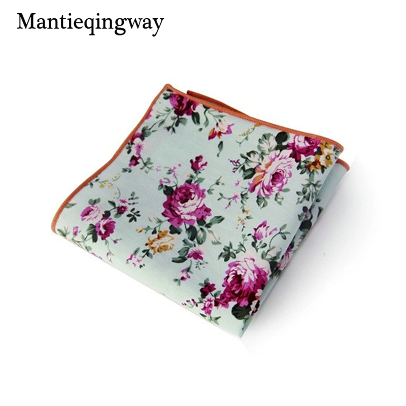 Mantieqingway Floral Handkerchief Wedding Hanky For Mens Suit Pocket Square Casual Business Tie Set Handkerchiefs 23*23 Cm Towel