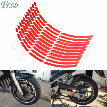 Car motorcycle Tire Rim Stickers 17-19 Reflective Wheel Tyre Sticker Decors For Suzuki M109R/Hayabusa/BURGMAN 650 Executive image