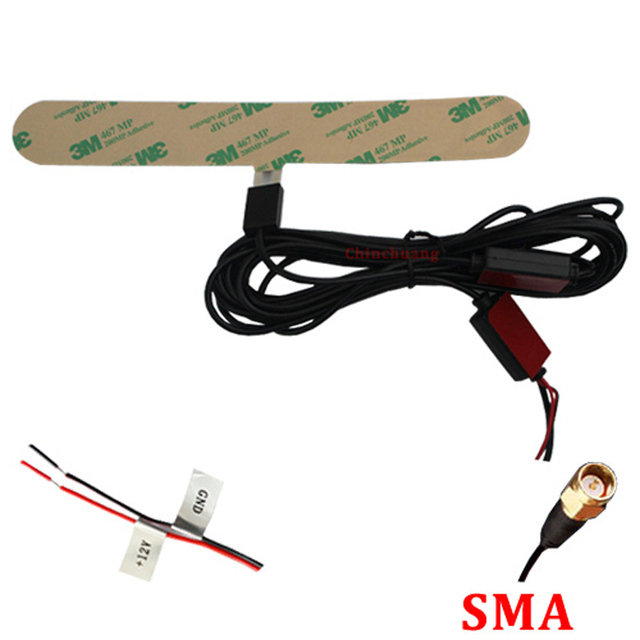 IEC / SMA / F/MCX connector ISDB-T Digital Car TV Active Antenna with Amplifier special for Japan and Brazil+Free shipping !!!