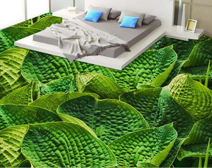 ФОТО customized 3d pvc flooring waterproof bedroom wallpaper Leaves 3d floor tiles self-adhesive wallpaper