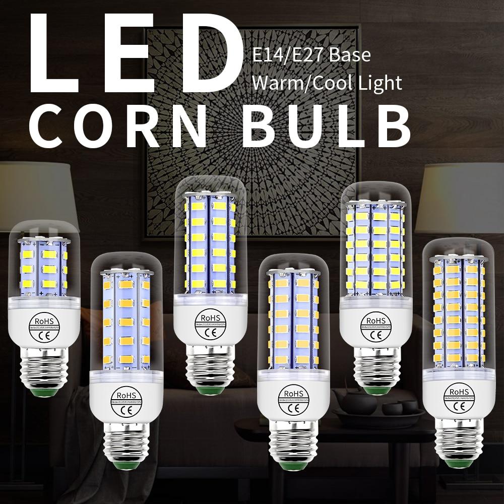 E14 Corn LED Lamp E27 Ampoule Led Bulb GU10 Led Candle Lamp 5W 7W 9W 12W 15W 20W Home Light Bulb 220V For Chandeliers 5730 SMD