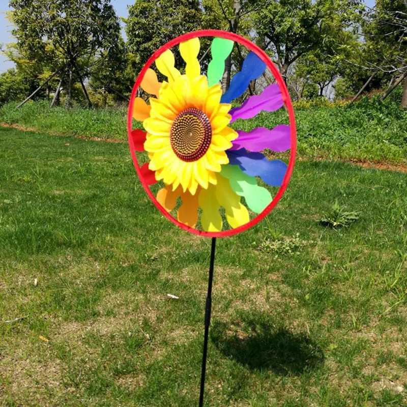 Ветряная мельница в виде подсолнечника декоративный светильник в виде крутящегося ветра счетчик дома дворовый садовый декор Детская игрушка