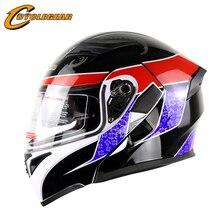 Флип moto шлем двойной линзы мотоцикл каско мотоцикл шлем cyclegear ff902