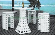 New designs rattan bar stool set with table furniture sale