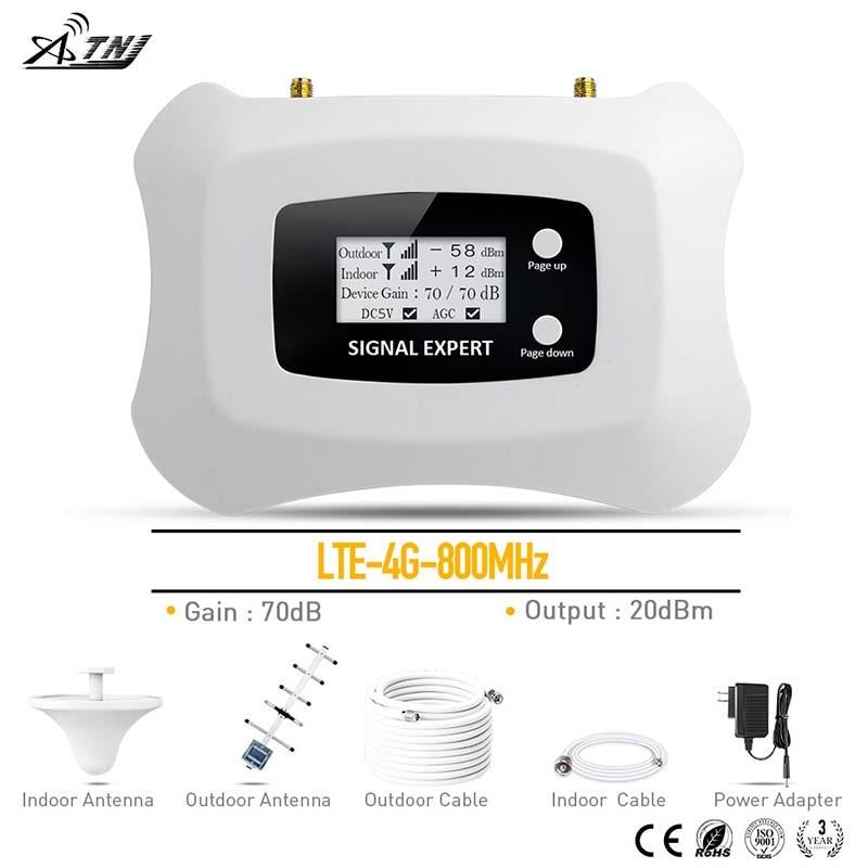 Amplificateur de Signal cellulaire 4G LTE 800 MHz MTS Beeline Vodafone Band20 4G répéteur de Signal Mobile 4G pour la zone RU