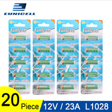 20pcs=4 Cards 12V 23A Dry Alkaline Battery 21/23 A23 E23A MN21 MS21 V23GA L1028 Eunicell High Voltage Batteries