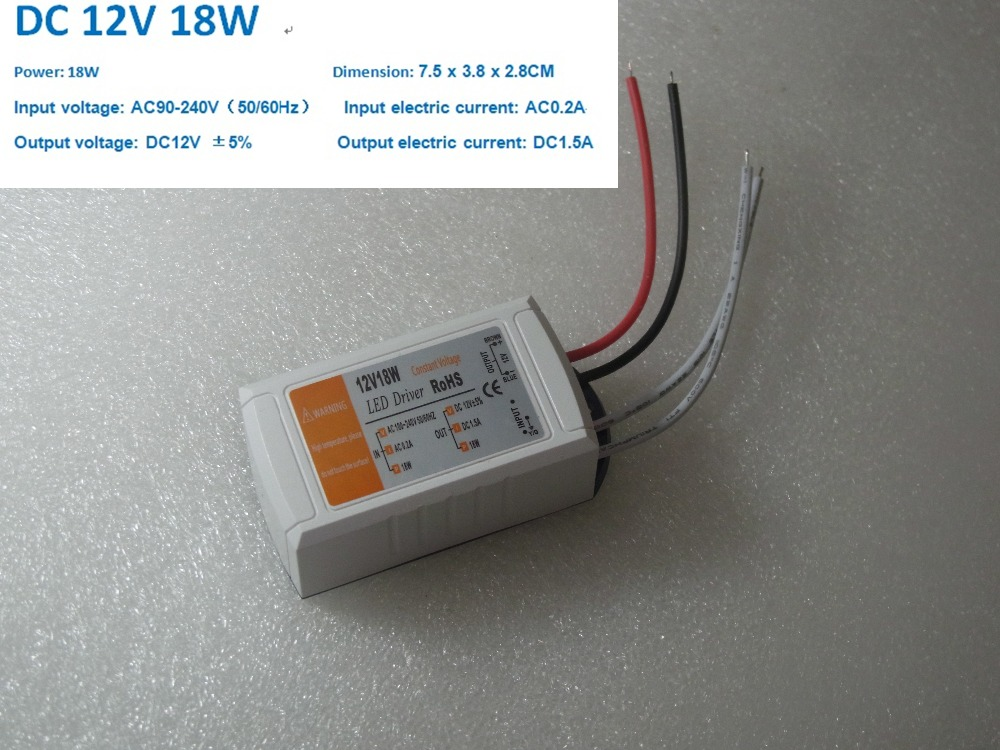 18W Switching Power Supply 1.5A LED Driver <font><b>Adapter</b></font> 110V 220V AC to DC Lighting Transformers for LED Strip LED Module LED lamps image