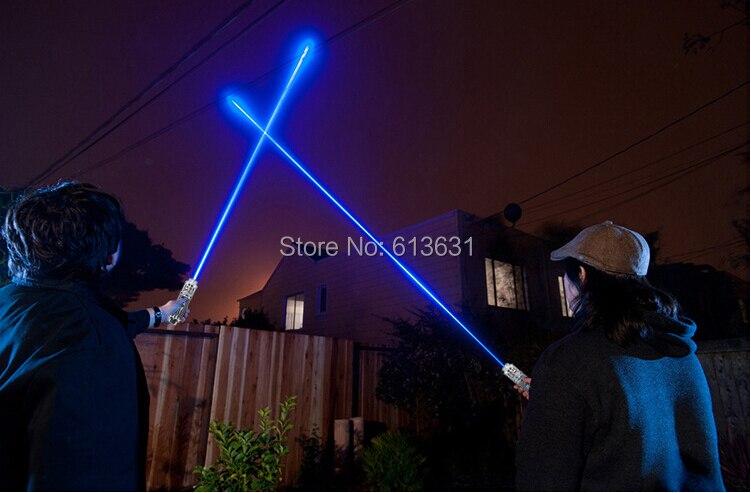 все цены на Focusable High Power Blue Laser Pointer 50000mw 50w 450nm Burning Match Paper Dry Wood Candle Black онлайн