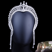 Justice League Atlanta Tiara Crown Cosplay Mera Headband Rhinestone Headwear Queen Crown Tiara Costume Cosplay Accessories