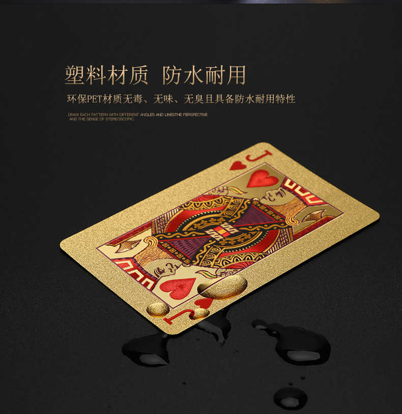 One Deck Gold Foil Poker Statue of Liberty Style Plastic Poker Playing Cards Waterproof Cards Good Price Gambling Board game GYH