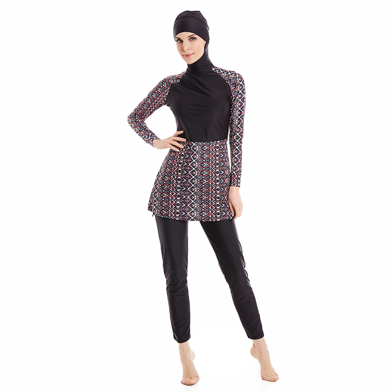 Muslim Swimwear Islamic Women Modest Hijab Plus Size Burkinis Wear Swimming Bathing Suit Beach Full Coverage Swimsuit 6XL