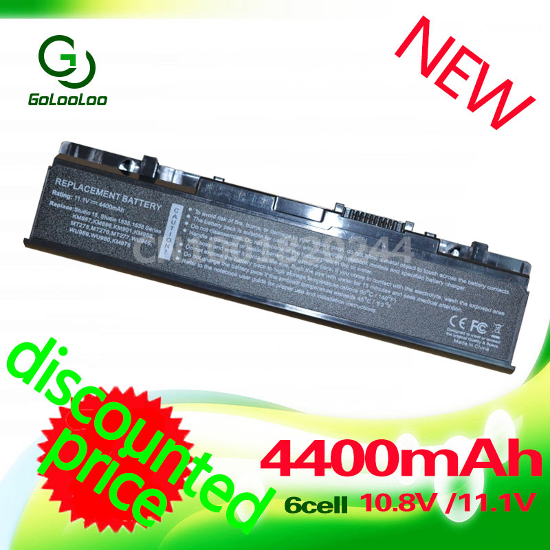 Golooloo 4400MaH 11.1v Battery for <font><b>Dell</b></font> <font><b>Studio</b></font> <font><b>1535</b></font> 1536 1537 1555 1557 1558 PP33L PP39L A2990667 KM958 KM965 312-0701 312-0702 image