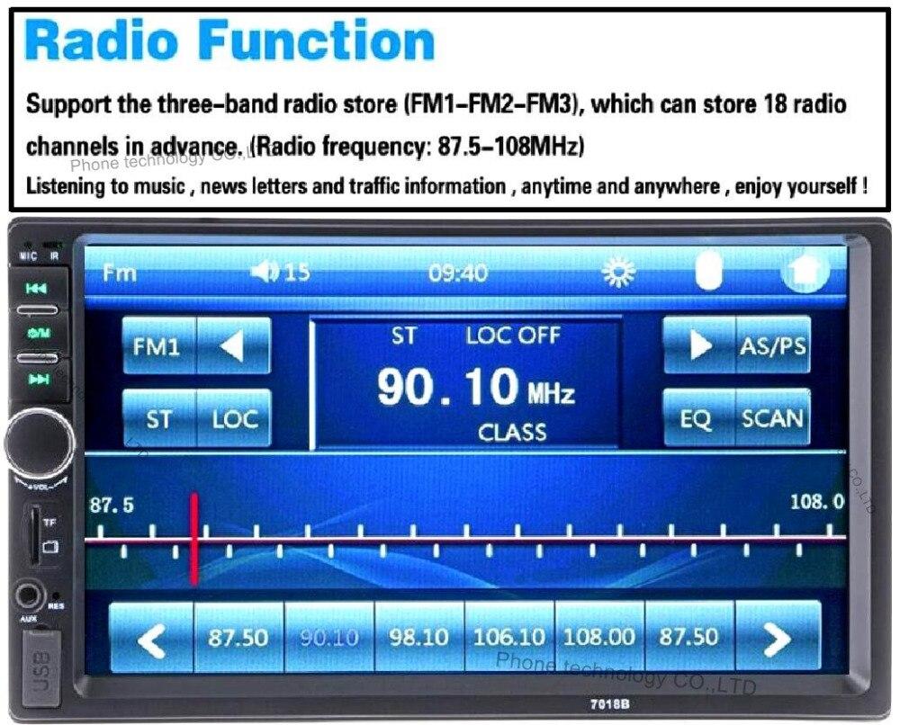 2 DIN autoradio 12V Hands-free Calls Car Radio Bluetooth Audio Stereo Bluetooth In Dash FM Aux Input Receiver USB Disk SD Card