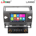 Dual core Car radio stereo player GPS For Citroen C4 With multimedia,auto BT,GPS navi,steer wheel control, RDS Canbus free map