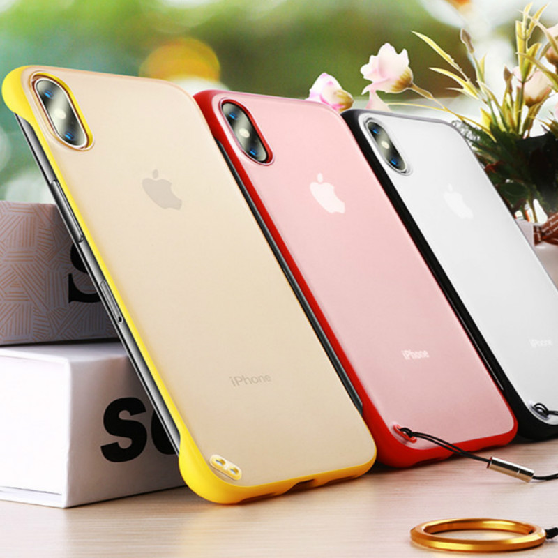 Image 3 - New Fashion phone case PC Cover for iphone XS Max XR Frameless Transparent Matte Hard  Case for iphone 6 7 8 Plus Finger Ring-in Fitted Cases from Cellphones & Telecommunications