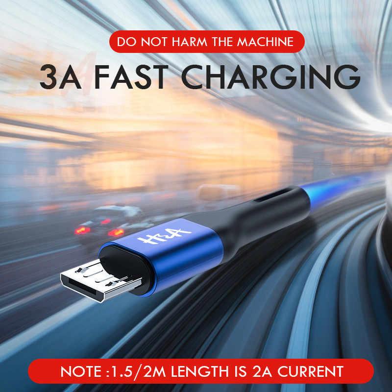 H & מיקרו USB כבל 3.0A מהיר טעינת Microusb מטען כבל עבור סמסונג J4 J5 J6 J7 Xiaomi Redmi הערה 5 4 אנדרואיד טלפון כבלים
