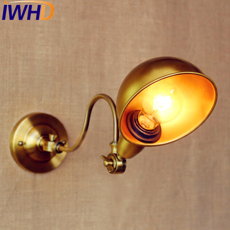 IWHD Gold Copper Retro Vintage Wall Light LED With Long Arm Wall Lamp Loft Style Industrial Sconces Lampara Pared IronIWHD Gold Copper Retro Vintage Wall Light LED With Long Arm Wall Lamp Loft Style Industrial Sconces Lampara Pared Iron