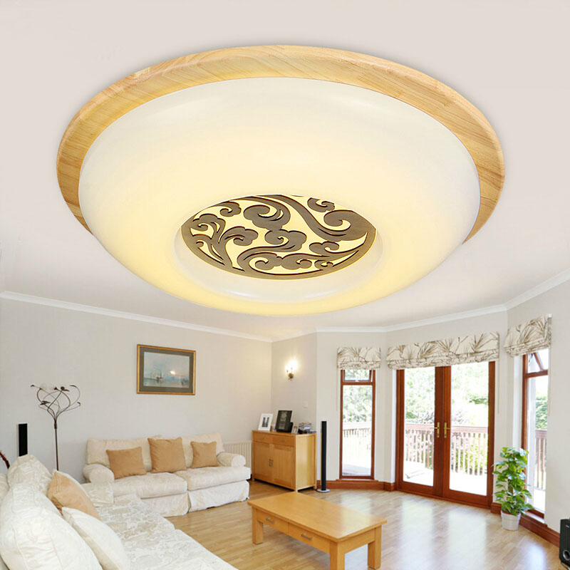 OAK Modern led ceiling lights for bedroom kitchen balcony lamparas de techo wooden led ceiling lamp fixtures abajur noosion modern led ceiling lamp for bedroom room black and white color with crystal plafon techo iluminacion lustre de plafond