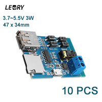 LEORY 3 5 10PCS USB MP3 Lossless Module With Amplifier Mp3 Nondestructive Decoder Board TF Card
