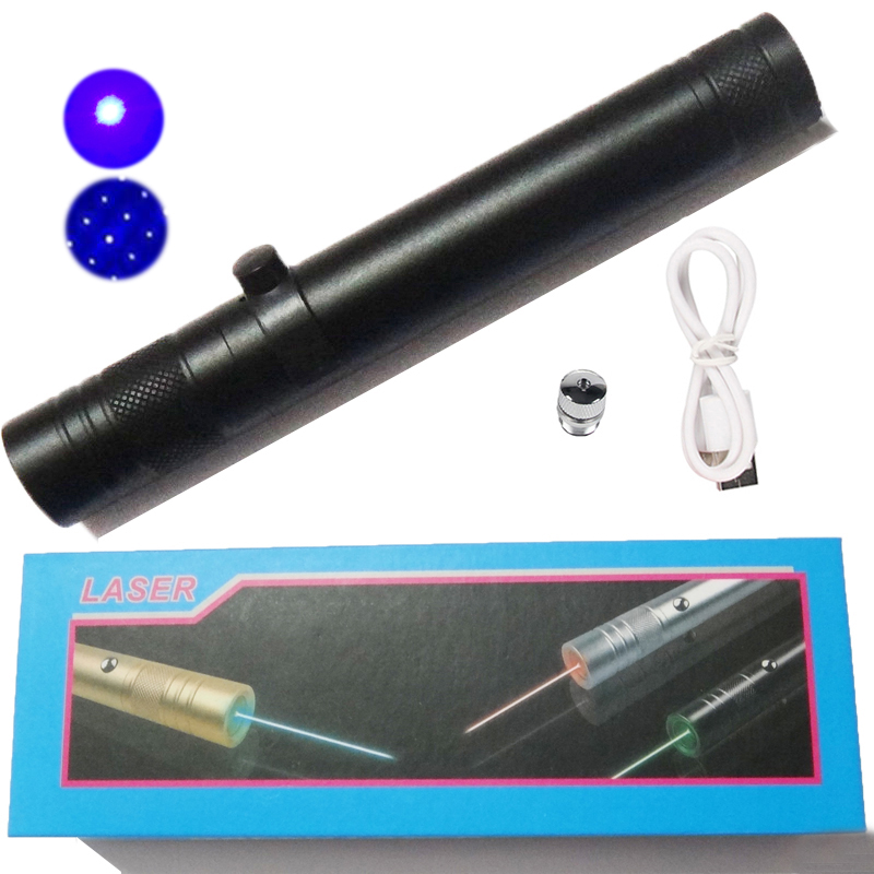Powerful Blue Laser Pointer High Power 10000m USB Rechargable Blue Lazer Pen for Camping Architecture SOS Astronomers