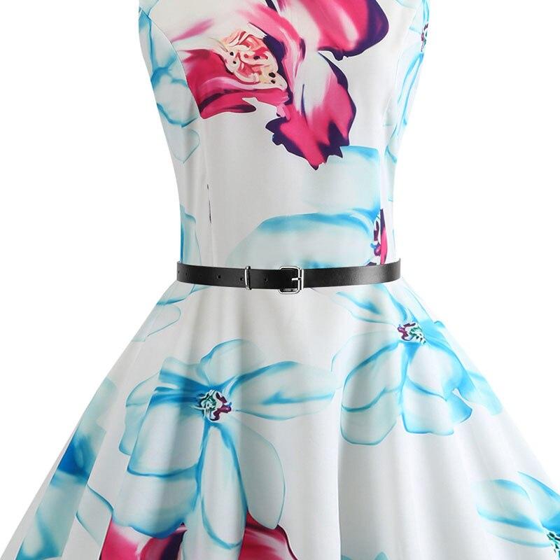 Blue Vintage Swing Dress 29