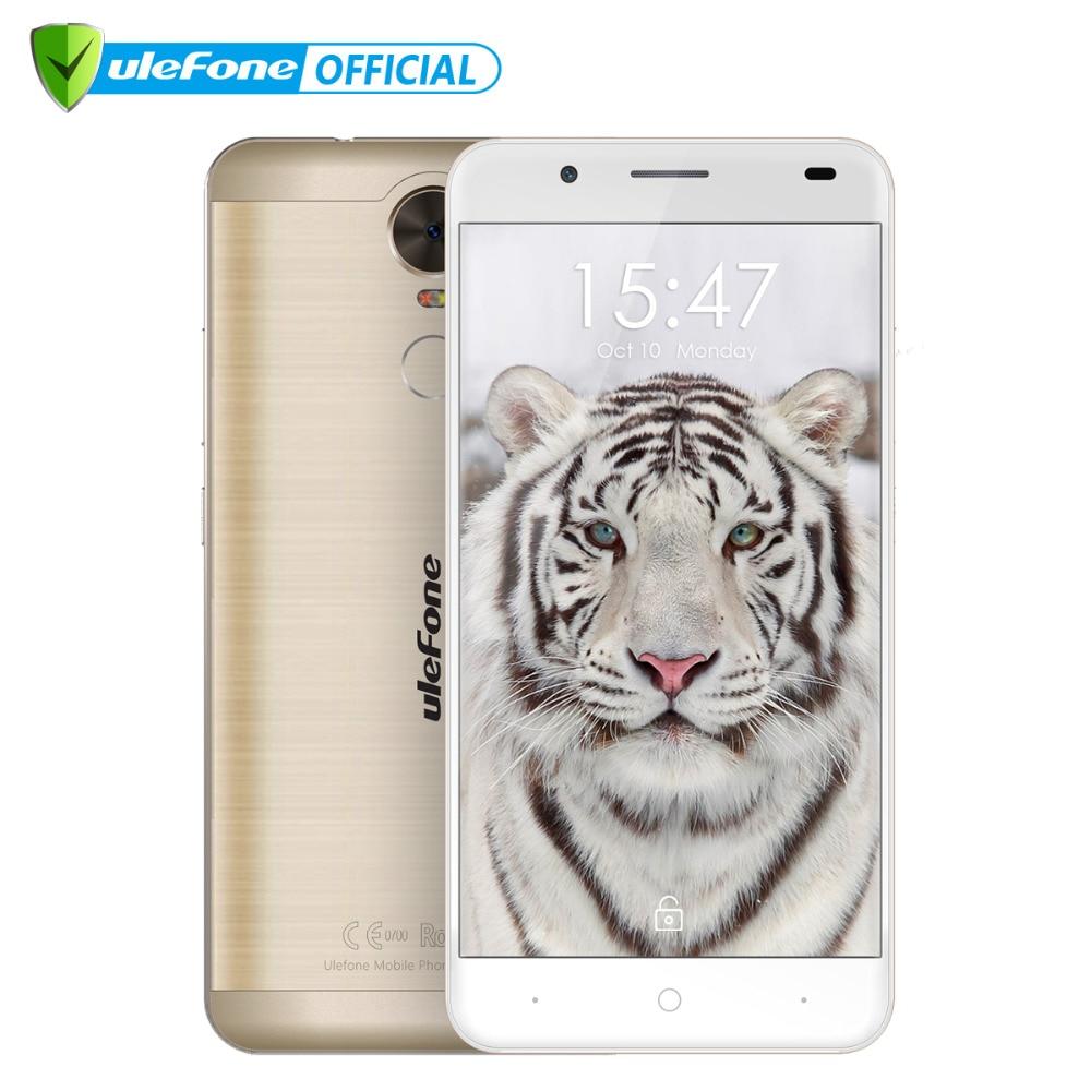 "bilder für Ulefone Tiger 4G Smartphone 5,5 ""HD MTK6737 Quad Core Android 6.0 2 GB RAM 16 GB ROM 8MP Große batterie Fingerprint ID Handy"