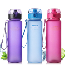 Water Bottle 400ml 560ml Plastic water bottle Scrub Protein shaker sports Portable student drinking