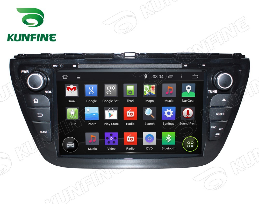Quad Core1024*600 Android 5.1 Car DVD GPS Navigation Player for Suzuki SX4 S Cross 2014 Radio 3GWifi steering wheel control