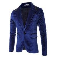 Top quality 2019 winter Leisure suit suede surface gentleman men jackets spell fur collar mens Casual suits patwork Pu Slim coat