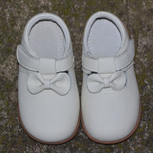girls genuine leather shoes solid white black children shoes