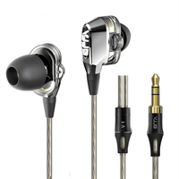 4pcs Speaker DIY VJJB V1 In Ear Universal Hifi Metal Earphone Earbud With Remote And