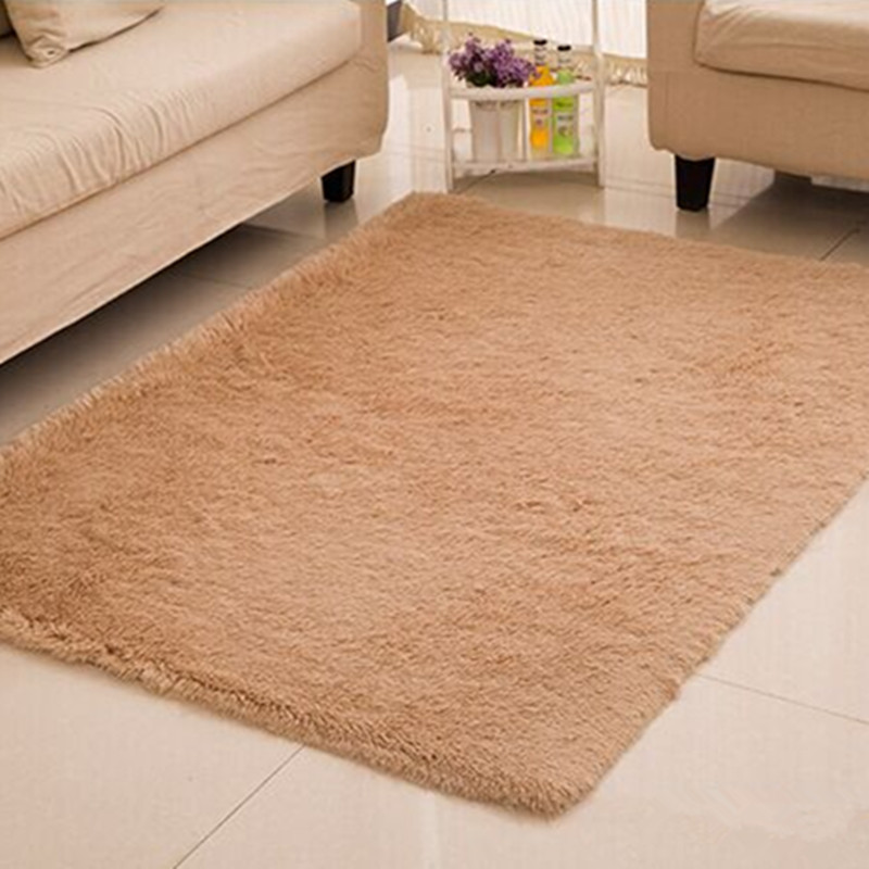 Home textile living room carpet big size mat long hair - Carpets for living room online india ...