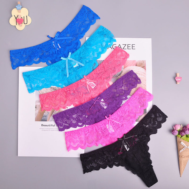 5310d984ac68b 8color Gift full beautiful lace Women's Sexy lingerie Thongs G-string  Underwear Panties Briefs Ladies T-back 1pcs/Lot 169