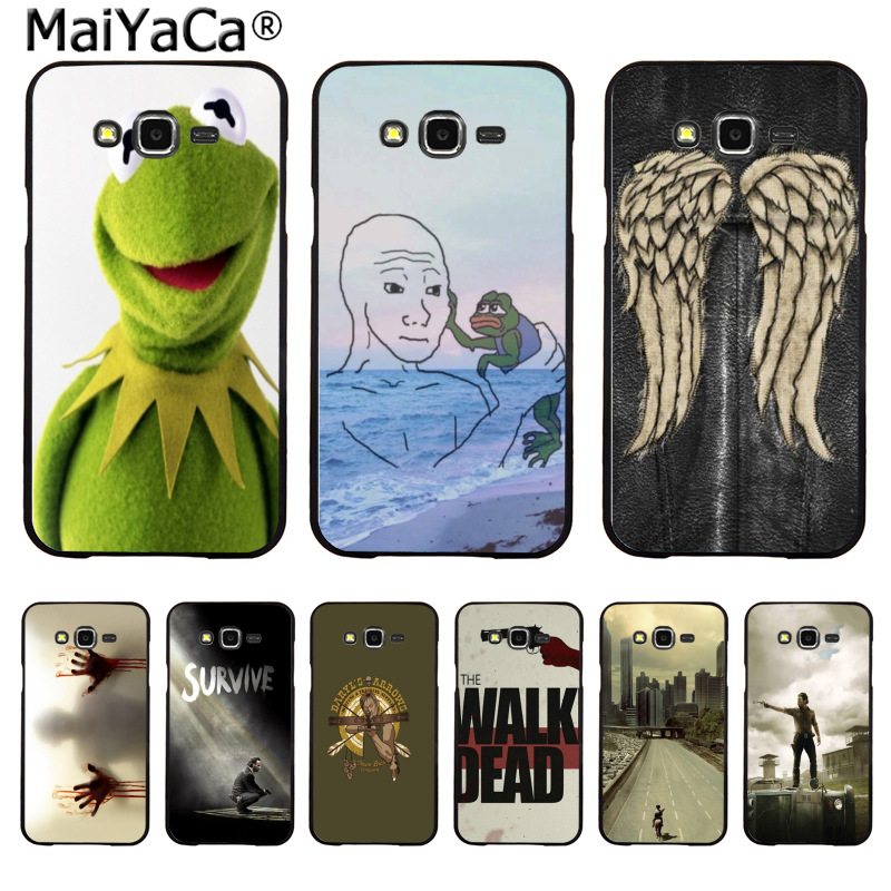 MaiYaCa the frog meme Newest Fashion Luxury phone case for Samsung 2015 J1 J5 J7 2016 J1 J3 J5 J7 Note3 4 5 image