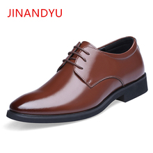 Spring Summer Height Increasing 6CM Formal mens oxford shoes Genuine Leather Business Casual Shoes Men Dress Office Luxury